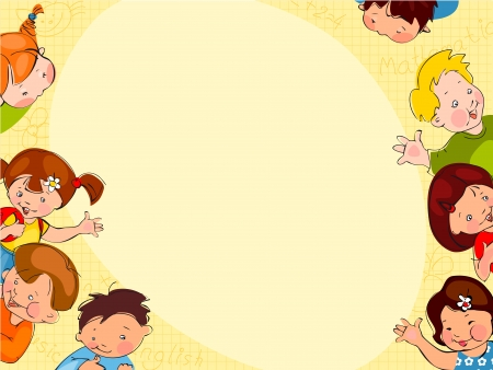 学校の子供たちの場所テキスト