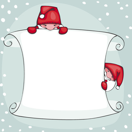 Banner of happy new year, with Santa Claus Vector