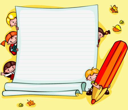 school children Illustration