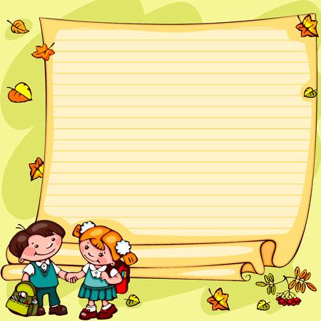 preschool poster: school children Illustration