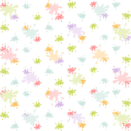 Bright watercolor blots on white background. Vector wallpaper. Vector