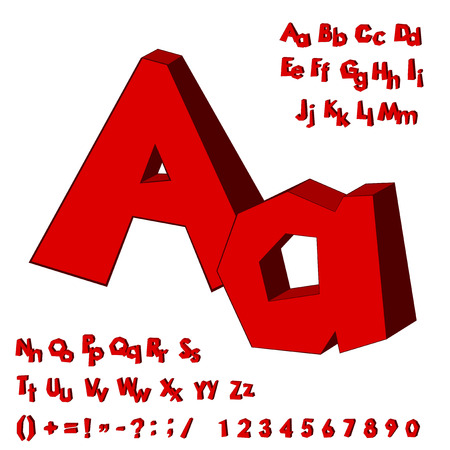 uppercase: Alphabet. English capital and uppercase letter. vector illustration Illustration