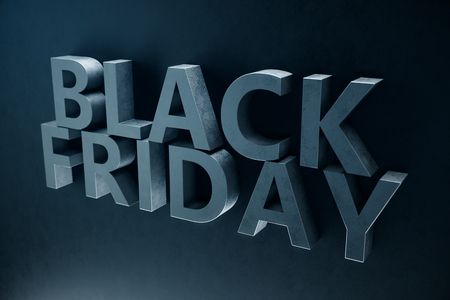 Home sale of the year Black Friday only once a year, the last days of November. Discounts, sales. 3D illustration