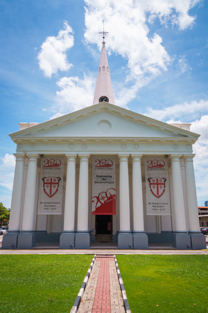 St. George`s Church in George Town, Penang, Malaysia. A historic christian church and a popular tourist spot.