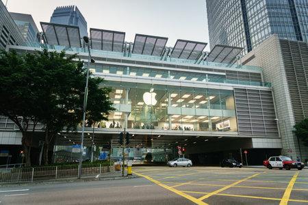 macintosh: Hong Kong - circa March, 2017: Apple Store in Hong Kong. Apple Store opened its long-awaited first store in Hong Kong. Apple store is located at the International FinanceCenter.
