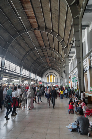 Jakarta, Indonesia - November2017: Kota train station of Jakarta. Kota is a major train station located in the old city and is set as a cultural heritageby the city.