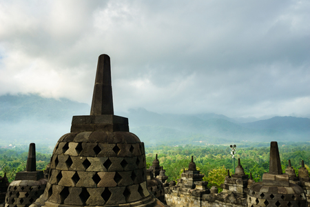 Borobudur Temple (Candi Borobudur), Yogyakarta, Indonesia. Stock Photo