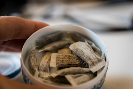 Snus - a box of Snus, a moist powder tobacco product widely consumed in Norway and Sweden and among athletes