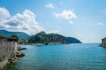 Sea view of Amasra, a popular seaside resort town in the Black Sea region of Turkey. Stok Fotoğraf