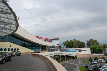 Almaty, Kazakhstan - September, 2018: Almaty airport architecture. The Almaty airport is the largest international airport in Kazakhstan. Editorial
