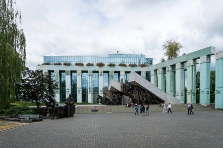 Warsaw, Poland - July, 2019: Warsaw Uprising Monument. The Uprising Monument is a monument in Warsaw, Poland, dedicated to the Warsaw Uprising of 1944 Redakční