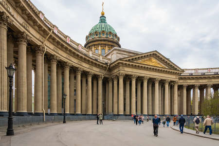 Saint Petersburg, Russia - May 2019: Kazan Cathedral (Cathedral of Our Lady of Kazan). A Russian Orthodox Church in Saint Petersburg, Russia.