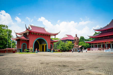 Sam Poo Kong temple in Semarang Indonesia. Sam Poo Kong temple is a massive Chinese temple in Semarang and a landmark visited by tourists. Editorial