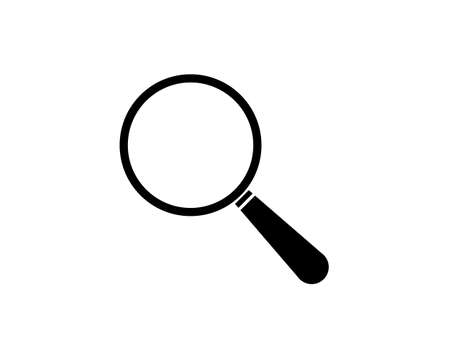 Search icon / zoom icon / Magnifying glass vector icon - modern and simple flat symbol for web site, mobile, logo, app, UI