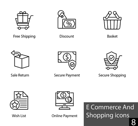 E commerce and shopping icons