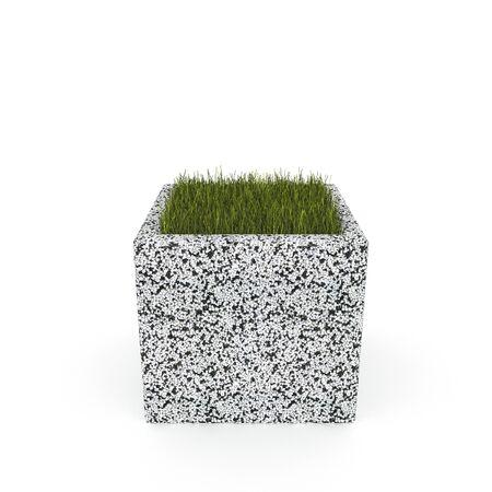 3D flower pot render