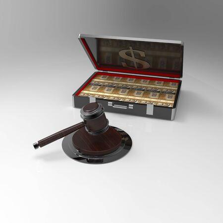 Judges hammer and money box