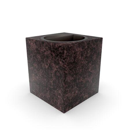 3d model urn Quatro Maroon Granite