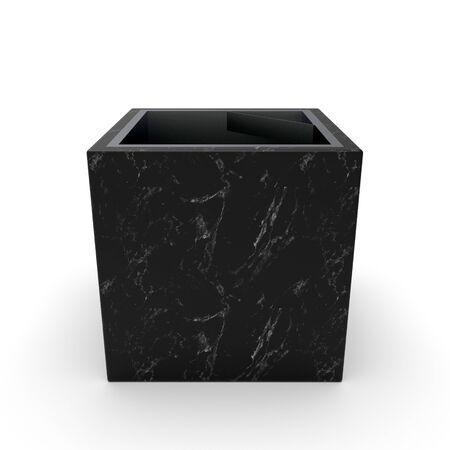 3d model urn CarolinaBlack Matte Marble