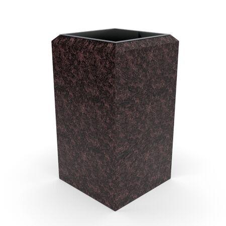 3d model urn Kol Maroon Granite