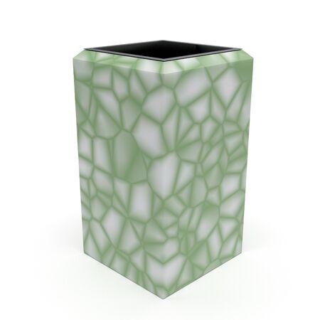 3d model urn Kol Green Terrazzo Floor Standard-Bild