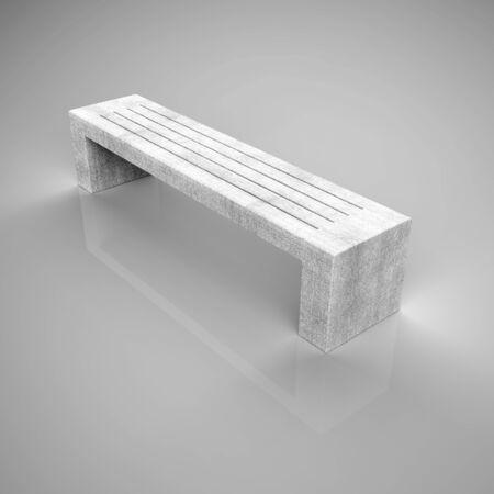 3d render bench Betonbank-Bituma-83 concrete loft