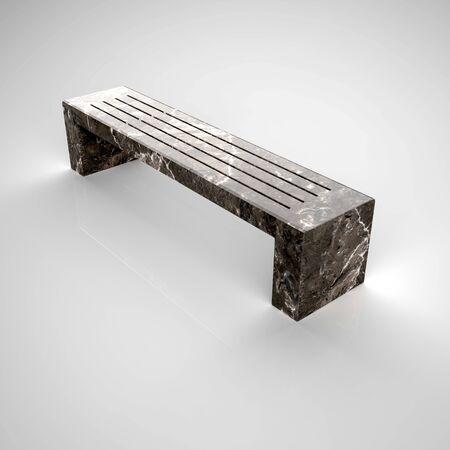 3d render bench Betonbank-Bituma-83 Marble Grey Banque d'images