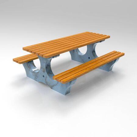 3D image concrete bench Bituma