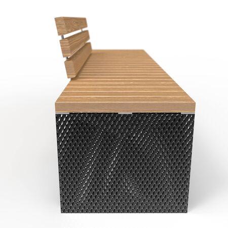 3d model park bench Polywood L2000 4