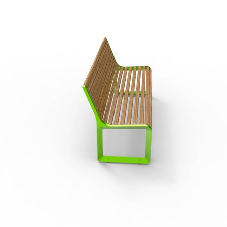 3D image of Park benches on a light background. Wooden, metal, stone and concrete small architectural forms. Use these photos in your advertising campaigns to attract a lot of interest.