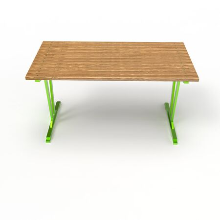 3d image of a forged table Modern 4 Stok Fotoğraf