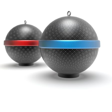 3d image of color Bollards Concrete Ball Decoration