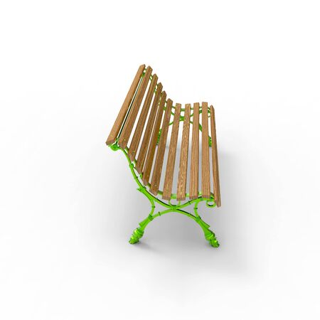 3d render image of aluminum bench new Europe 05 Stok Fotoğraf