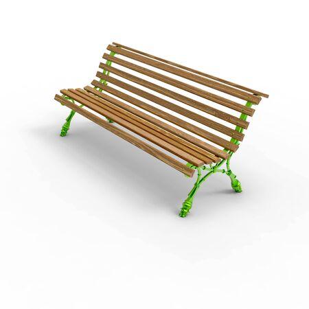 3d render image of aluminum bench new Europe 11