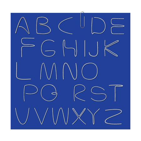 alfabet: alphabet with element clips on dark background
