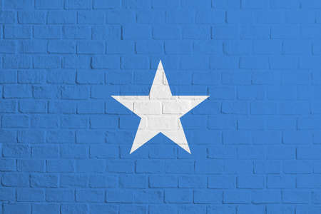 Flag of Somalia. Brick wall texture of the flag of Somalia.