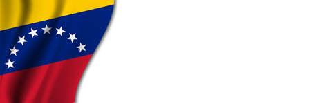 Venezuela flag on white background. White background with place for text near the flag of Venezuela.