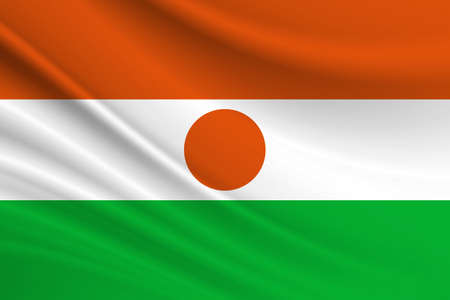 Flag of Niger. Fabric texture of the flag of Niger.