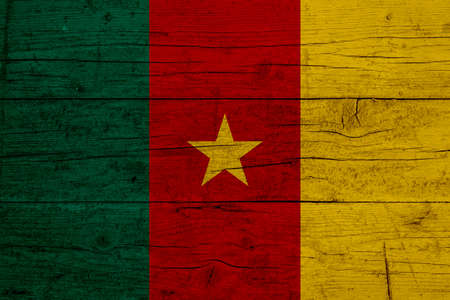 Flag of Cameroon Wooden texture of the flag of Cameroon.