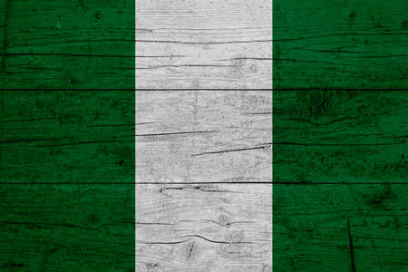 Flag of Nigeria. Wooden texture of the flag of Nigeria.