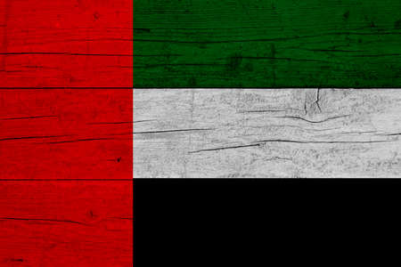 Flag of United Arab Emirates. Wooden texture of the flag of United Arab Emirates. 写真素材