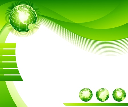 corporate world: Abstract background with globes. Vector illustration.
