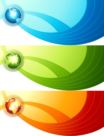 Abstract design with globe. Vector
