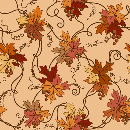 Seamless foliage background.  Vector