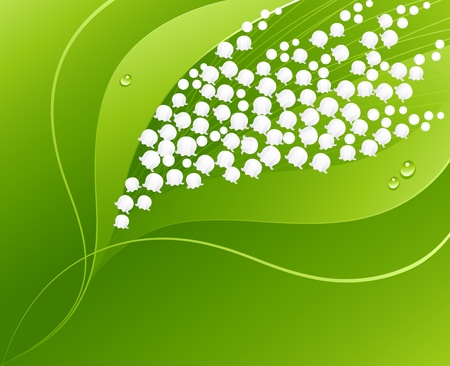 Lily of the valley. Floral background.  Vector