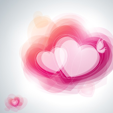 valentine s day: Abstract hearts. Vector illustration. Illustration