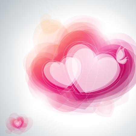 hintergrund liebe: Abstrakt Herzen. Vektor-Illustration. Illustration
