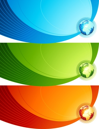 Abstract design with globe Vector