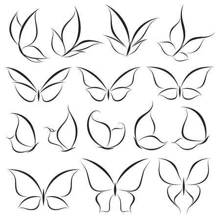wings logos: Butterflies