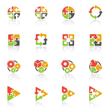 logo informatique: Ic�nes g�om�triques abstraits